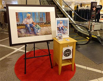 Courage Ablaze featured at Macy's of Rivertown Mall