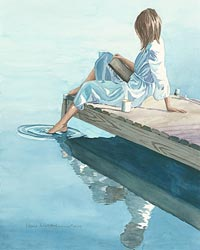 Stillness – Watercolor painting
