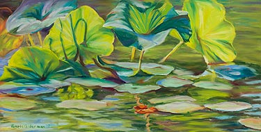 Water Lilies - pastel painting
